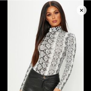 Pretty Little Thing  snake print bodysuit